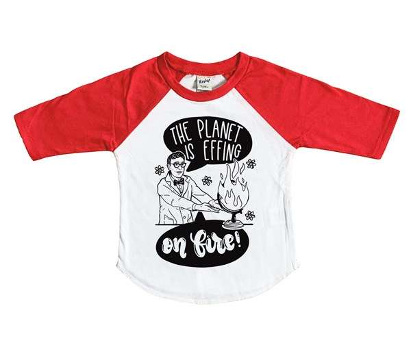On Fire Kids Raglan