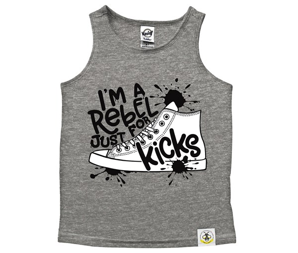 Rebel Just for Kicks Kids Scoop Neck Tank