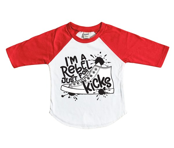 Rebel Just for Kicks Kids Raglan