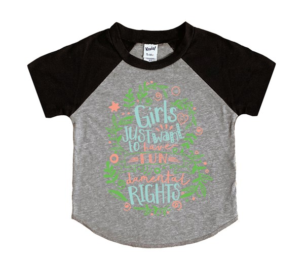 Fundamental Rights (Kids Short Sleeve Raglan)
