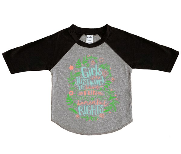 Fundamental Rights Kids Raglan (Grey/Black)