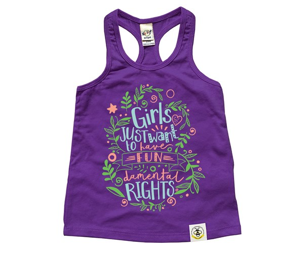 Fundamental Rights Kids Racerback Tank (Purple)