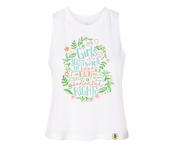 Fundamental Rights Adult Racerback Cropped Tank