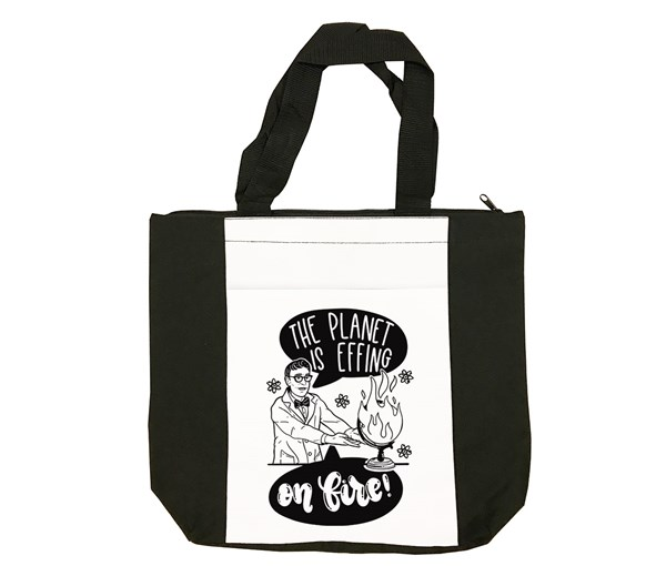 On Fire Tote Bag (Black/White)