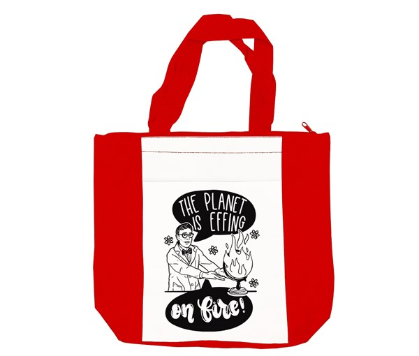 On Fire Tote Bag (Red/White)