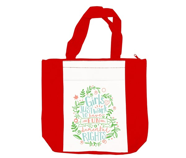Fundamental Rights Tote Bag (Red/White)