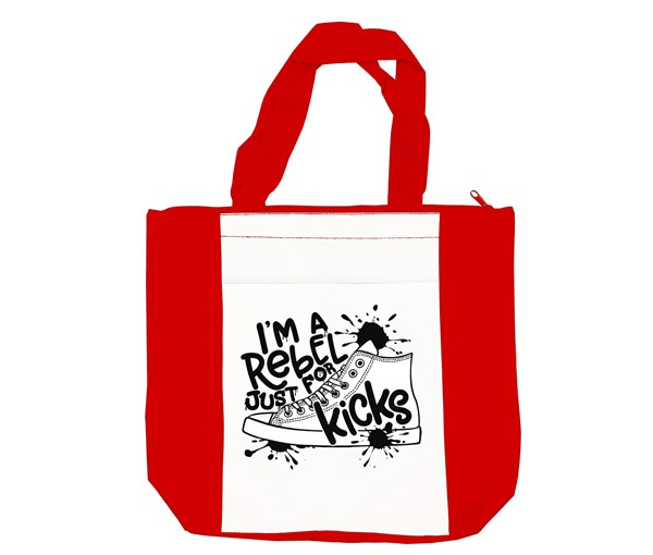 Rebel Just for Kicks Tote Bag (Red/White)