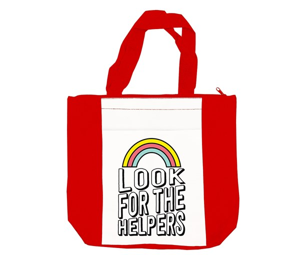 Look for the Helpers Tote Bag (Red/White)