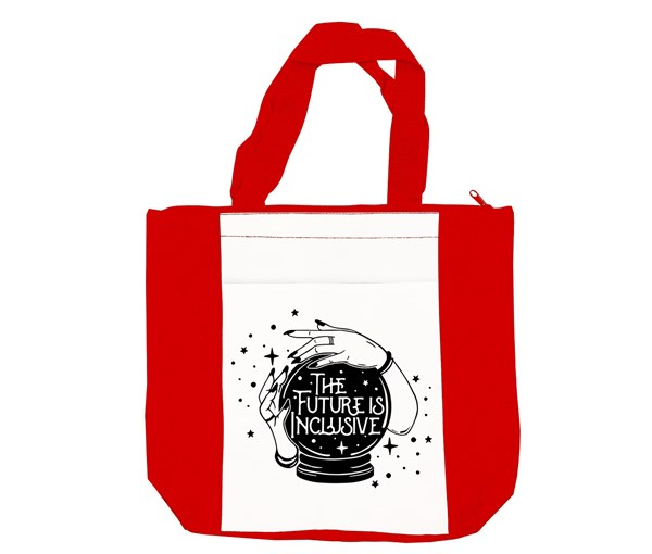 The Future is Inclusive Tote Bag (Red/White)