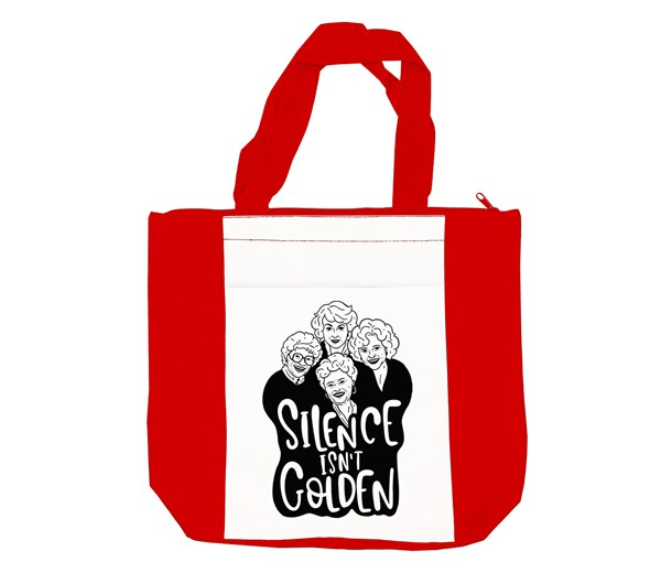 Silence isn't Golden Tote Bag (Red/White)