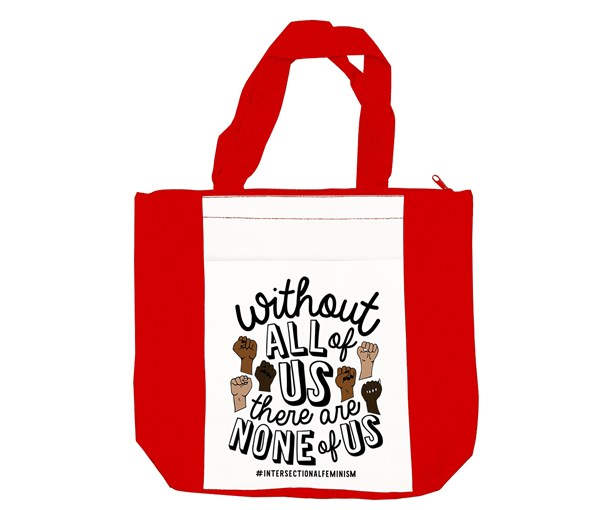 All or None Tote Bag (Red/White)