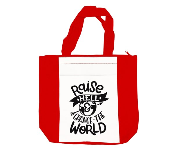 Raise Hell Tote Bag (Red/White)