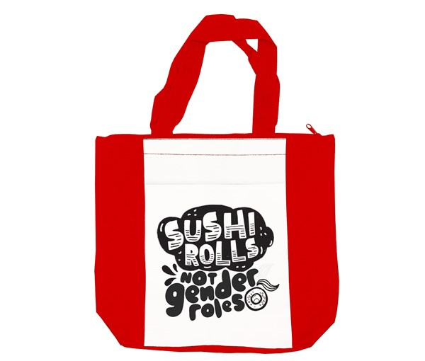 Sushi Rolls Tote Bag (Red/White)
