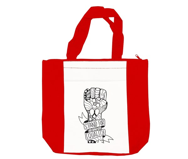 Equality Fist Tote Bag (Red/White)