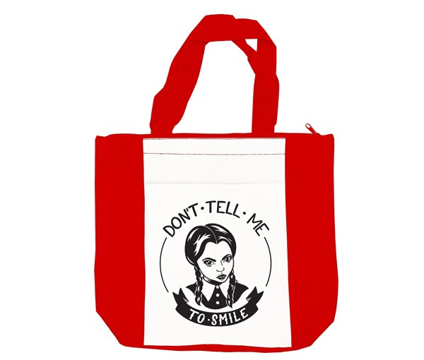 Don't Tell Me Tote Bag (Red/White)