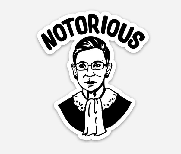 Notorious Vinyl Sticker