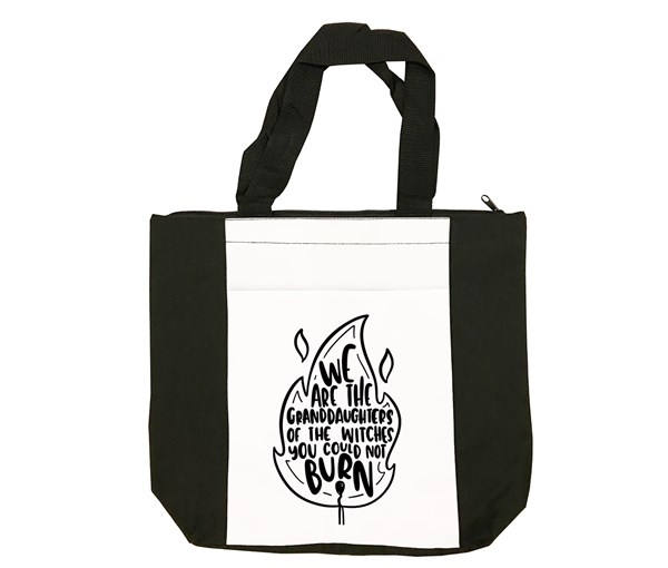 Granddaughters Tote Bag (Black/White)