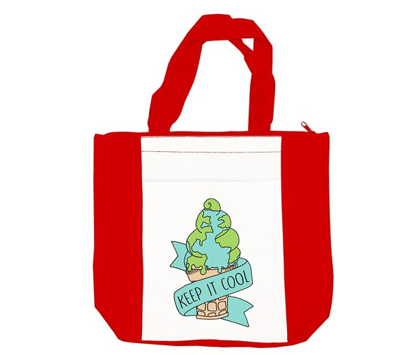 Keep it Cool Tote Bag (Red/White)
