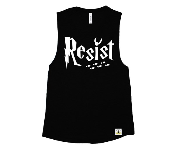 Resist Adult Muscle Tank (Black)