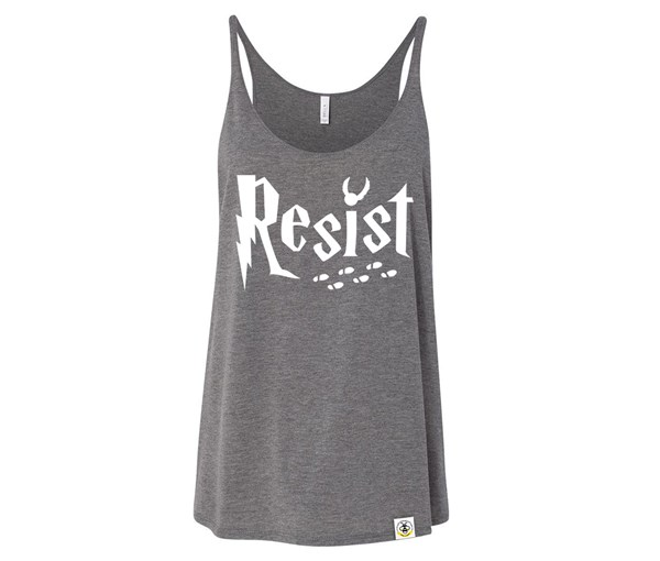Resist Adult Slouchy Tank (Grey)
