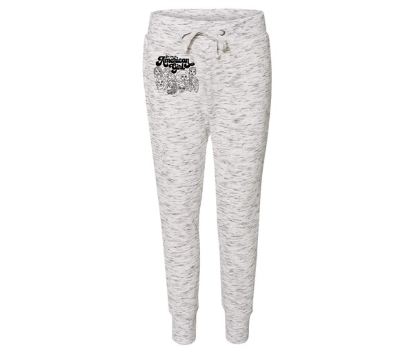 American Girl Joggers (White/Grey Speckle)