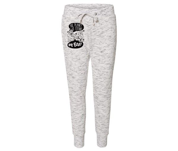 On Fire Joggers (White/Grey Speckle)