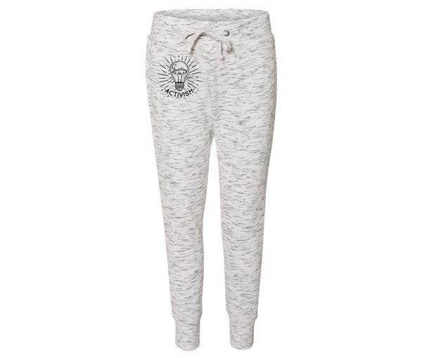 Educating is Activism Joggers (White/Grey Speckle)