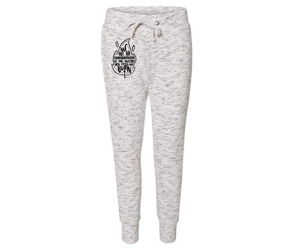 Granddaughters Joggers (White/Grey Speckle)