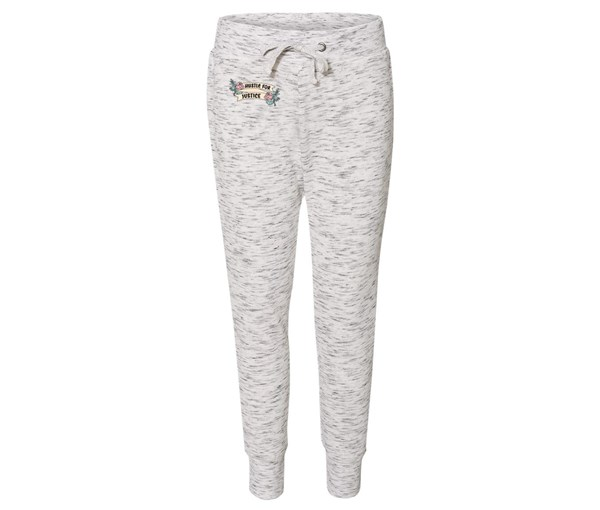 Hustle for Justice Joggers (White/Grey Speckle)
