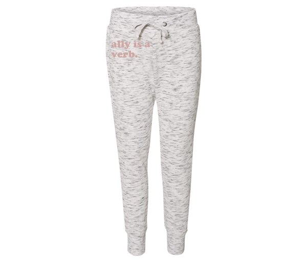 Ally is a Verb Joggers (White/Grey Speckle/Rose Gold)