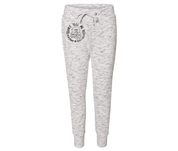 Calm Down Joggers (White/Grey Speckle)