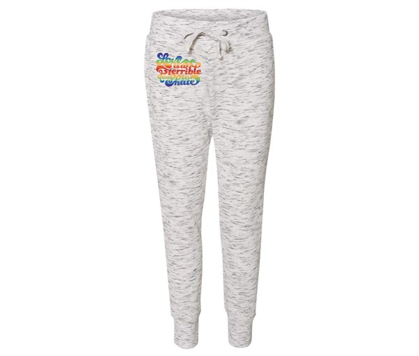 Love is a Terrible Thing to Hate Joggers (White/Grey Speckle)