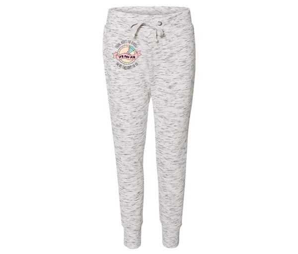 It's Not Pie Joggers (White/Grey Speckle)