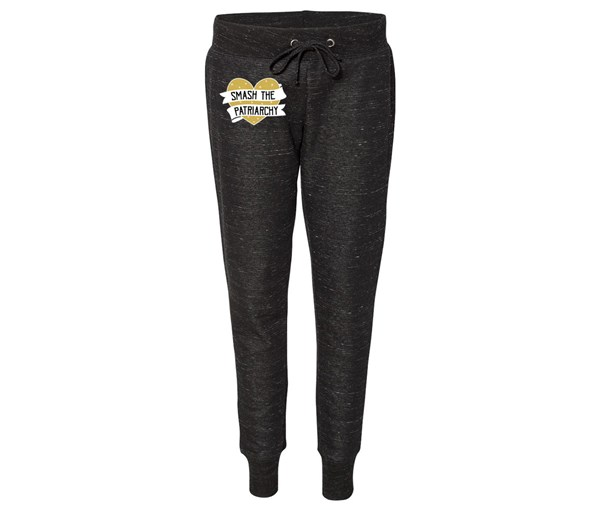 Smash the Patriarchy Joggers (Black/Gold)
