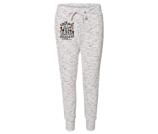 All or None Joggers (White/Grey Speckle)