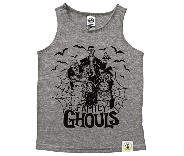 Ghouls Scoop Neck Tank (Grey)