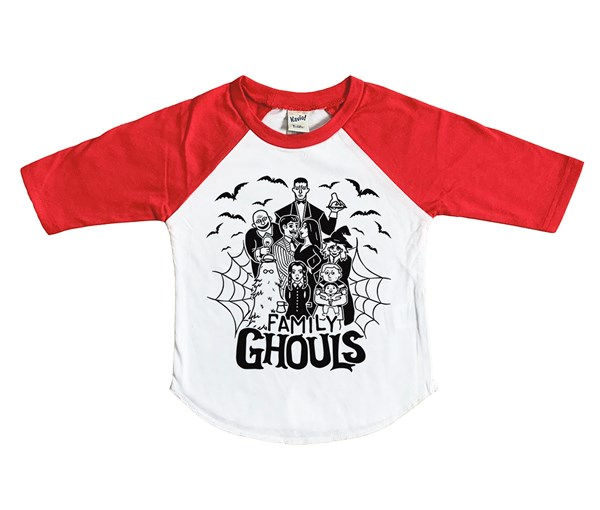 Ghouls Raglan (White/Red)