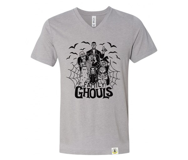 Ghouls Adult V-Neck (Athletic Grey)