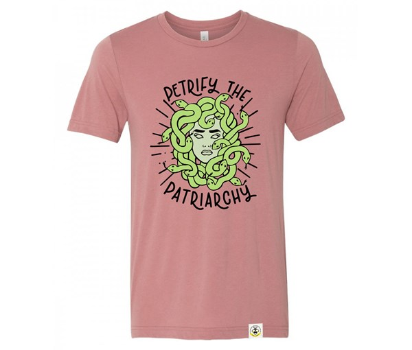 Petrify the Patriarchy Adult Crew (Mauve)