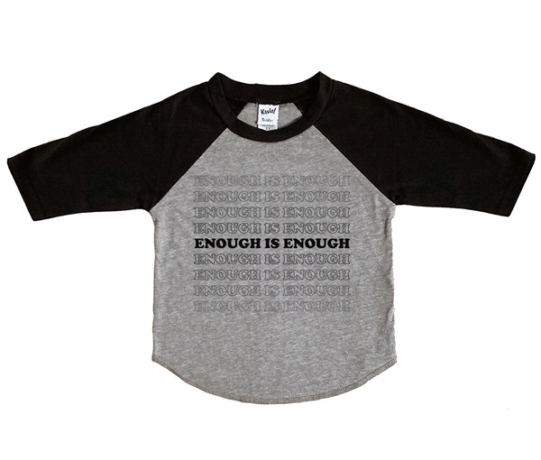 Enough Raglan (Grey/Black/Black)