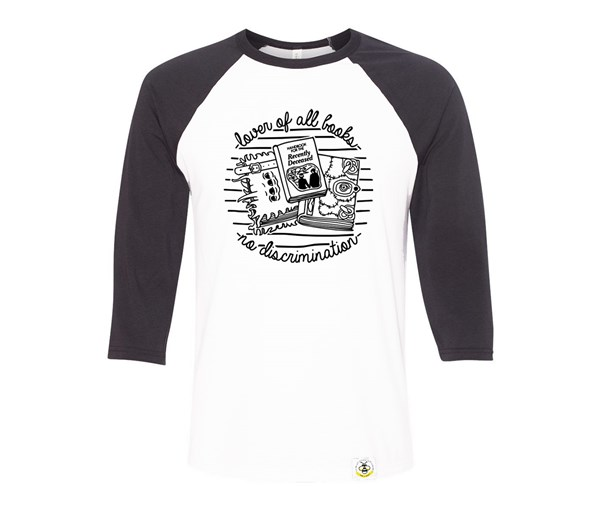 Book Lover Adult Raglan
