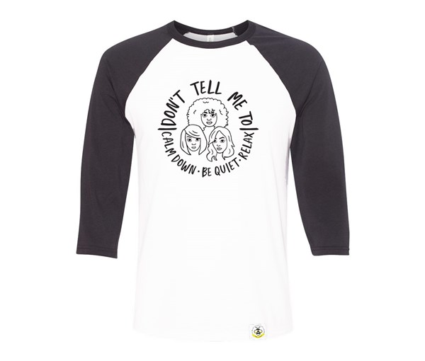 Calm Down Adult Raglan