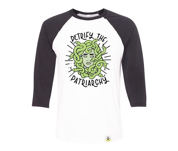 Petrify the Patriarchy Adult Raglan