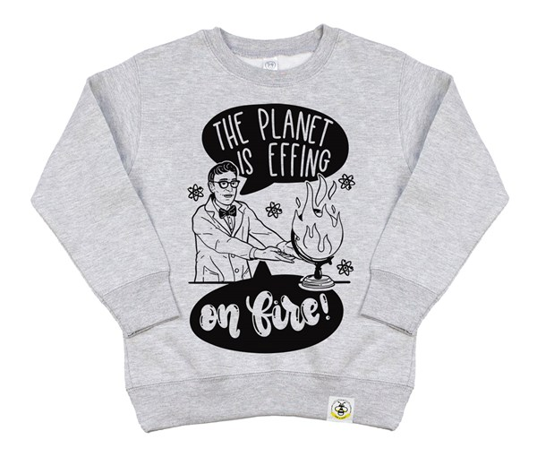 On Fire Kids Sweatshirt (Grey)