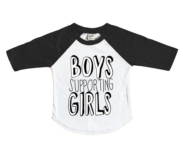 Boys Supporting Girls (Kids Raglan)