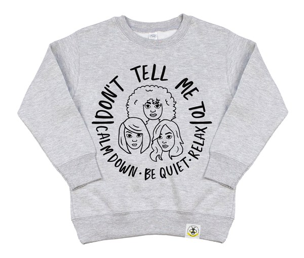 Calm Down Kids Sweatshirt (Grey)