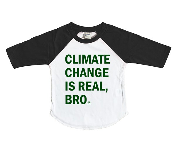 Climate Change Kids Raglan (White/Black)