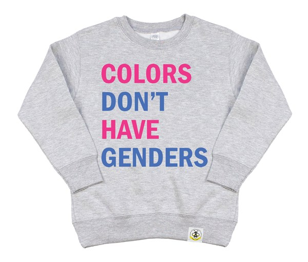 Colors Don't Have Genders (Kids Sweatshirt)