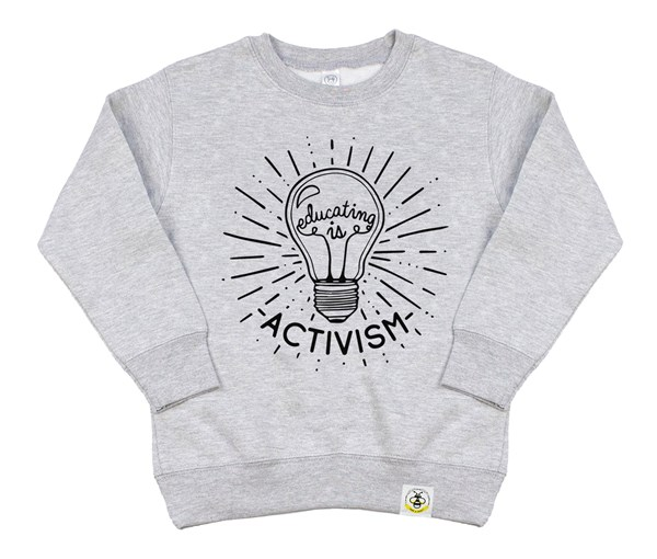 Educating is Activism Kids Sweatshirt (Grey)