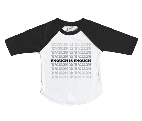 Enough Raglan (White/Black)
